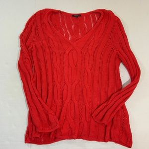Lafayette 148 Red Knit Sweater XL